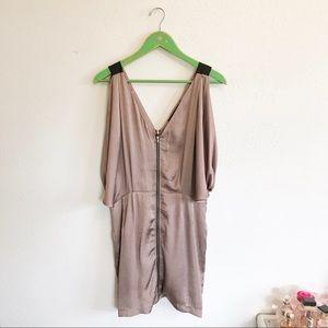 Cold shoulder batwing silky dress M ark & co
